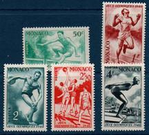 MON 1948  Jeux Olympiques De Londres  N° YT 319-323  ** MNH - Unused Stamps