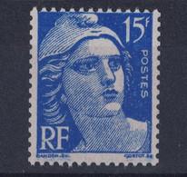 TIMBRE GANDON N° 886 15F BLEU Au TYPE III ( N° 886d ) ISSU De ROULETTE NEUF **  SANS CHARNIERE - 1945-54 Marianne Of Gandon