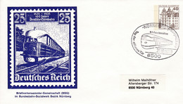 BRD, PU 111 B2/009, BuSchl. 40, Nürnberg, Eisenbahn, Lok. - Private Covers - Used