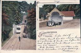 Kriens LU, Sonnenbergbahn, Bahnhof, Chemin De Fer, Funiculaire En Gare (23.9.1902) - LU Lucerne