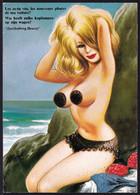 "COMIC BAMFORTH CARD B26  - "" Les Nouveaux Phares De Ma Voiture - SUN BATHINGBEATY WITH HUGE BREAST - SEINS - Humor"