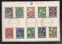 """Oesterreich - 1956 - Mi. 568-577 Auf Sonderkarte, SSt. """"Klagenfurt"""" (E300) - 1945-60 Covers"""
