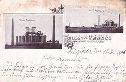 MAIZIERES LES METZ - MOSELLE - (57) - LITHOGRAPHIE DE 1901...BEL AFFRANCHISSEMENT POSTAL. - Ars Sur Moselle