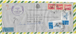 Lettre RIO De JANEIRO ( Ministéro Da Educaçao E Saoude ) Vers BELGIQUE ( Inst. Sup.Educa. Physique Univer. De Liège)1960 - Luchtpost
