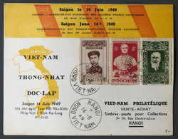 Vietnam, Carte Commémorative, Accords Franco Vietnamiens 14 Juin 1949 - (C1863) - Vietnam