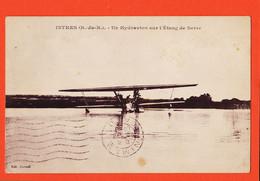 SAM010 ⭐ ISTRES Un Hydravion Sur L' Etang De BERRE Cpavion1929 à CATHALAN Villa Marie Route Courbessac Nîmes-CORRADI - Istres