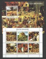 NS347 2003 GUINEA-BISSAU ART PAINTINGS PIETER BRUEGHEL 1BL+1KB MNH - Andere