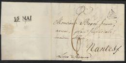 France - Marcophilie - 75 Paris - Marque Postale 60 Paris - Lettre 13 Mai 1811  LAC Port Du - P Noir Dans Un Triangle - 1801-1848: Precursori XIX
