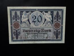 ALLEMAGNE * : 20 MARK   4.11.1915    C.A.53 ** / P 63      Presque SPL à SPL - 20 Mark