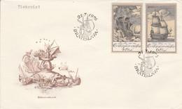 TCHECOSLOVAQUIE FDC 1976 GRAVURES DE NAVIRES - FDC