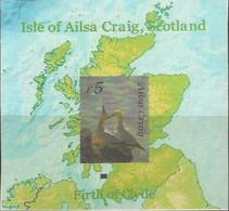 SCOTLAND - AILSA CRAIG - Bird On Map - Imperf Souv Sheet - Mint Never Hinged No Gum - Local Cinderella - Cinderellas