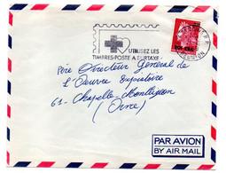Réunion -- 1968 --Lettre De SAINT DENIS Pour Chapelle-Montlignon-61 (France)-Marianne Cheffer.cachet Tp Surt Croix,coeur - Storia Postale