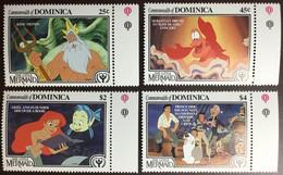Dominica 1991 Disney Little Mermaid MNH - Dominica (1978-...)