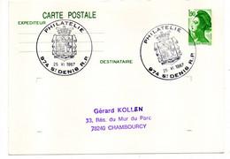 Entier CP --Liberté 1.90F ....cachet SAINT DENIS RP Philatélie (Réunion) Pour CHAMBOURCY-78 - Standaardpostkaarten En TSC (Voor 1995)