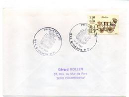 1987--tp Journée Du Timbre Seul Sur Lettre De SAINT DENIS RP Philatélie (Réunion) Pour CHAMBOURCY-78 - 1961-....