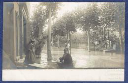 CARTE PHOTO VAUCLUSE (84) - AVIGNON - INONDATIONS DE 1907 - PHOTO BARTESAGO, 7, RUE DES MARCHANDS - Avignon