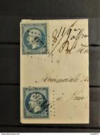 01 - 21 - France - Frag Avec N°22 Oblitéré GC 3126 - Ribeauville - Territoire De Belfort à Destination De Sion - Suisse - 1862 Napoléon III