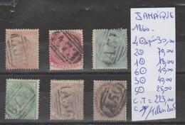 LOT DE TIMBRE DE JAMAIQUE 1860 OBLITEREES Nr VOIR SUR PAPIER AVEC TIMBRES  COTE 223 ,00 € - Jamaica (1962-...)