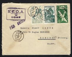 TOGO 1946: LSC De Lomé Pour La Suisse - Covers & Documents
