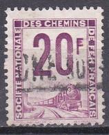 France Timbres Pour Colis Postaux émis Par La Sncf Chemin De Fer Train N°29-30 Oblitérés - Usados