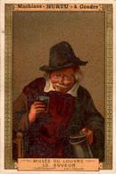 """Chromo Pub """" Machines à Coudre Hurtu """" Sewing Machine Musée Du Louvre Le Buveur En B.Etat - Altri"""
