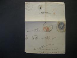 Altdeutschland Preussen 1865- Briefteil Mit Mi. 17 Und Rotem Stempel PD Und Poststempel Aachen Vom 16.9.1865 An Ninove - Pruisen