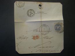 Altdeutschland Preussen 1865- Briefteil Mit Mi. 17 Und Rotem PD, Poststempel Aachen Nach  Ninove/Belgien - Pruisen