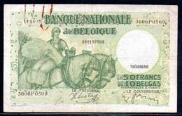 560-Belgique 50fr 1938 3606P0509 - 50 Francs-10 Belgas