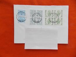 België Omslag Verstuurd 1999 Zegels 4 X Boudewijn 2.50 Fr. 6 X Heraldieke Leeuw  ( 1.50 Fr En 50 Cent ) - Unclassified