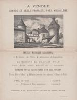 16 VENTE CHATEAU HISTORIQUE RENAISSANCE PROPRIETE DE 145 HECTARES PRES D'ANGOULEME - 1900 – 1949