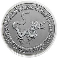 NIUE 2 Dollars Argent 1 Once Animaux Célestes Serpent Jaune 2020 - Niue