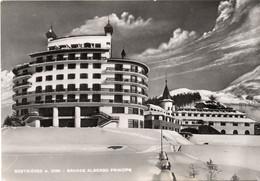 SESTRIERE ( TO )  - GRANDE ALBERGO PRINCIPE - VIAGGIATA 1955 - (rif. A89) - Andere Steden