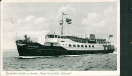 Alte Kleinformatkarte AMRUM / Nordfriesland - Motorschiff UHLANDE - Other