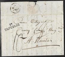 France - Marcophilie - 18 Cher  - Lot De 2 Marque Postale 17 SANCOINS  -  Lettre LAC - 1801-1848: Precursori XIX