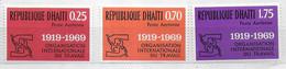 HAITI - 1969 - OIT - ORGANIZZAZIONE INTERNAZIONALE LAVORO - SERIE 3 VALORI NUOVA MNH**(YVER AV 427\9 - MICHEL 1069\71) - Haïti