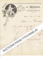 1897 Lettre Illustrée Style ART NOUVEAU - JUGENDSTIL - PARIS - J. MAUGE - Photograveur - Clichés Typographiques - Zonder Classificatie