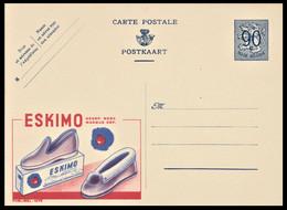 Entier CP Publibel 1075 . 0,90 C .  ESKIMO Pantoufles Fourrées - Publibels