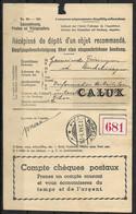Luxembourg / Luxemburg Recipisse D'un Recommande De Aspelt A Dudelange 27.07.1940 - Briefe U. Dokumente