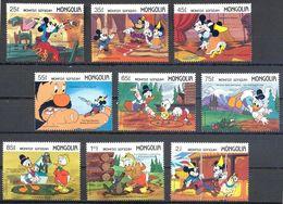 MWD-BK5-318-2 MINT PF/MNH ¤ MONGOLIA 1987 9w In Serie ¤ STORY ILLUSTRATIONS - WALT DISNEY - FRIENDS OF WALT DISNEY - Disney