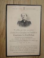 Noblesse : Faire Part Deces De Comtesse Léonide Marie De GUILLEBON + Portrait - 1903 .............. 1076 - Esquela