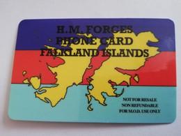 FALKLAND ISLANDS  10 POUNDS  MAP OF ISLANDS NO LOGO   PREPAID   **4417** - Falklandeilanden