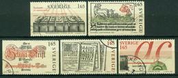 Bm Sweden 1983 MiNr 1225-1229 Used | 500th Anniv Of Printing In Sweden - Gebraucht