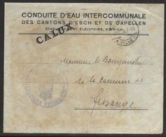 Luxembourg / Luxemburg Lettre En Franchise Etablissement Eaux De Koerich à Frisange 29.12.1926 - Briefe U. Dokumente