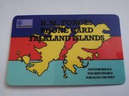 FALKLAND ISLANDS  10 POUNDS  MAP OF ISLANDS  WITH  LOGO C&W   PREPAID   **4418** - Falklandeilanden