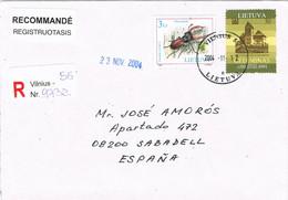 38855. Carta Certificada VILNIUS (Lituania) Lietuva 2004. Insect Lucanus Cervus - Litauen