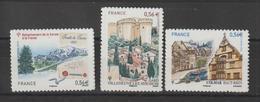 France 2010 Savoie, Villeneuve Et Colmar 415,416 Et 429 Neufs ** MNH - Adhésifs (autocollants)