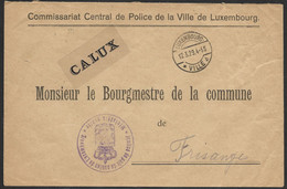 Luxembourg / Luxemburg Lettre En Franchise Commissariat De Police Au Maire De Frisange 12.03.1929 - Briefe U. Dokumente