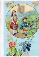 15 Chromo THEME VITICULTURE Vendages  1 Ex Libris Karl Weidenhofer - Wine
