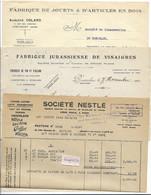 PONTARLIER ( Doubs) - Lot De 6 Factures Anciennes - Zonder Classificatie