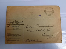 Lettre Prisonnier Camp Militaire D'internement Suisse Triengen YMCA Oberkommando Der Whermacht Censure Militaire - 1939-45